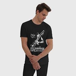 Пижама хлопковая мужская Led Zeppelin цвета черный — фото 2