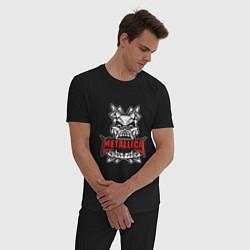Пижама хлопковая мужская Metallica: Death magnetic цвета черный — фото 2