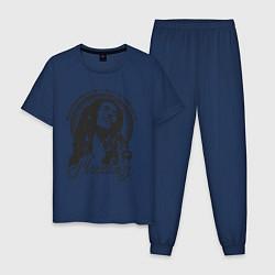 Пижама хлопковая мужская Bob Marley: Island цвета тёмно-синий — фото 1
