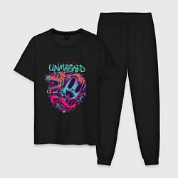 Пижама хлопковая мужская Street Unmasked цвета черный — фото 1
