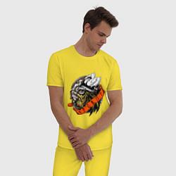 Пижама хлопковая мужская Яровит цвета желтый — фото 2