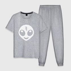 Пижама хлопковая мужская Skrillex UFO цвета меланж — фото 1