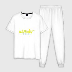 Пижама хлопковая мужская WITCHER 2077 цвета белый — фото 1