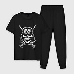 Пижама хлопковая мужская Slayer Pirate цвета черный — фото 1