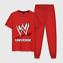 Пижама хлопковая мужская WWE universe цвета красный — фото 1