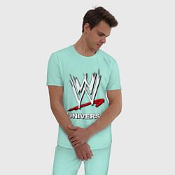 Пижама хлопковая мужская WWE universe цвета мятный — фото 2