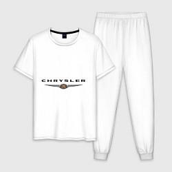 Пижама хлопковая мужская Chrysler logo цвета белый — фото 1
