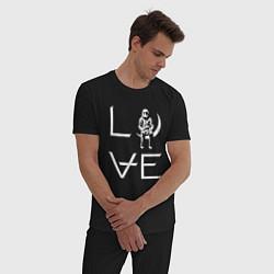 Пижама хлопковая мужская AVA Love цвета черный — фото 2
