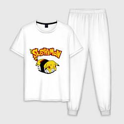 Пижама хлопковая мужская SushiMon цвета белый — фото 1