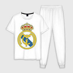 Пижама хлопковая мужская Real Madrid FC цвета белый — фото 1