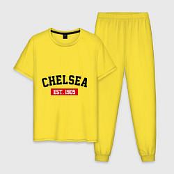 Пижама хлопковая мужская FC Chelsea Est. 1905 цвета желтый — фото 1
