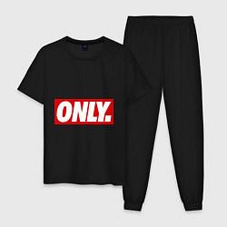 Пижама хлопковая мужская Only Obey цвета черный — фото 1