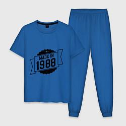 Пижама хлопковая мужская Made in 1988 цвета синий — фото 1