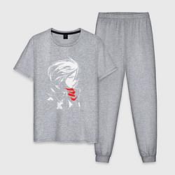 Пижама хлопковая мужская Микаса Аккерман цвета меланж — фото 1