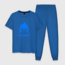 Пижама хлопковая мужская VEGETA цвета синий — фото 1