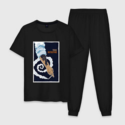 Пижама хлопковая мужская True Detective: Smoke Symbol цвета черный — фото 1