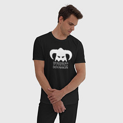 Пижама хлопковая мужская TES: Dovahkin цвета черный — фото 2