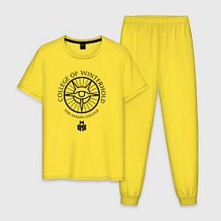 Пижама хлопковая мужская TES: The mages college цвета желтый — фото 1