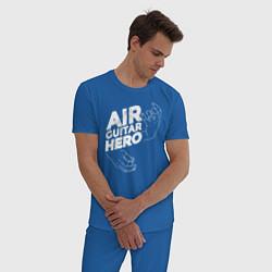 Пижама хлопковая мужская Air Guitar Hero цвета синий — фото 2
