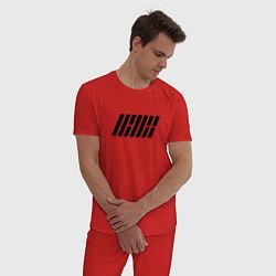 Пижама хлопковая мужская IKON цвета красный — фото 2