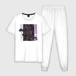 Пижама хлопковая мужская Солдат цвета белый — фото 1