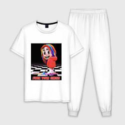 Пижама хлопковая мужская 6ix9ine цвета белый — фото 1