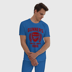 Пижама хлопковая мужская Arsenal: Kings of London цвета синий — фото 2