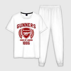 Пижама хлопковая мужская Arsenal: Kings of London цвета белый — фото 1