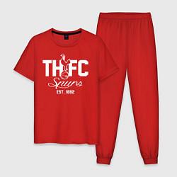 Пижама хлопковая мужская THFC Est 1882 цвета красный — фото 1