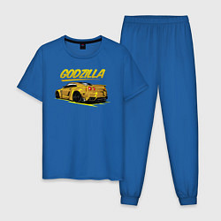 Пижама хлопковая мужская Nissan GODZILLA цвета синий — фото 1