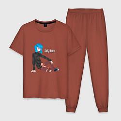 Пижама хлопковая мужская Sally Face цвета кирпичный — фото 1