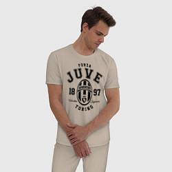 Пижама хлопковая мужская Forza Juve 1897: Torino цвета миндальный — фото 2