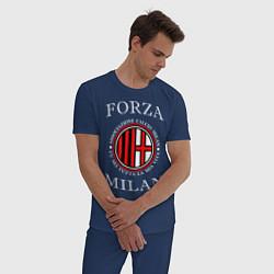 Пижама хлопковая мужская Forza Milan цвета тёмно-синий — фото 2