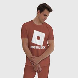 Пижама хлопковая мужская ROBLOX цвета кирпичный — фото 2