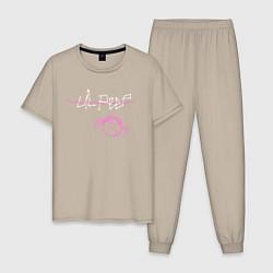 Пижама хлопковая мужская Lil Peep цвета миндальный — фото 1
