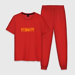 Пижама хлопковая мужская Escape From Tarkov цвета красный — фото 1