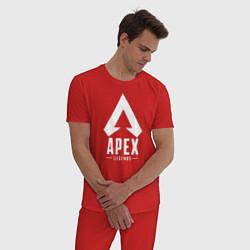 Пижама хлопковая мужская Apex Legends цвета красный — фото 2