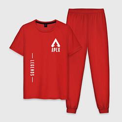 Пижама хлопковая мужская Apex Legends Gamer цвета красный — фото 1