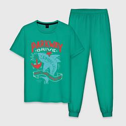 Пижама хлопковая мужская Parkway Drive: Unbreakable цвета зеленый — фото 1