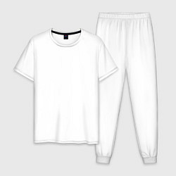 Пижама хлопковая мужская ASAP цвета белый — фото 1