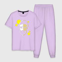 Пижама хлопковая мужская Apex Legends: Mirage Face цвета лаванда — фото 1