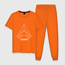 Пижама хлопковая мужская Apex Legends: LineWork цвета оранжевый — фото 1