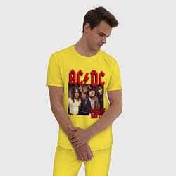 Пижама хлопковая мужская Girls got the rhythm цвета желтый — фото 2