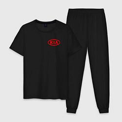 Пижама хлопковая мужская KIA цвета черный — фото 1