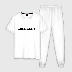 Пижама хлопковая мужская Billie Eilish цвета белый — фото 1
