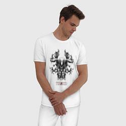 Пижама хлопковая мужская Become Legends цвета белый — фото 2