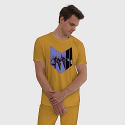 Пижама хлопковая мужская Hawkeye цвета горчичный — фото 2