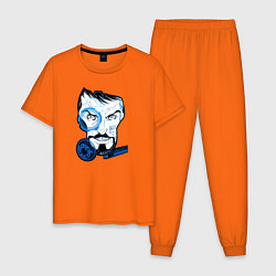 Пижама хлопковая мужская Взгляд Тони Старка цвета оранжевый — фото 1