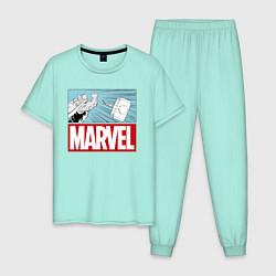 Пижама хлопковая мужская Thor: Marvel цвета мятный — фото 1