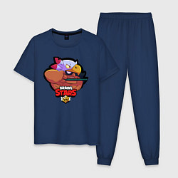 Пижама хлопковая мужская Brawl Stars цвета тёмно-синий — фото 1